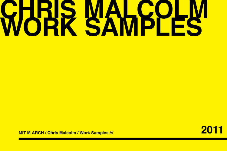 chris malcolm architecture urban works booklets
